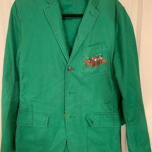 Ralph Lauren Green Men Blazer w/ Horse Logo